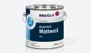 Aqualack Mattweiß 132, 2,50 Liter, Mega