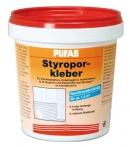 Styropor und Renoviervlies Kleber, Pufas