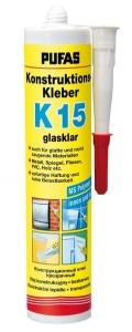 Konstruktions Kleber K 15 glasklar, Pufas